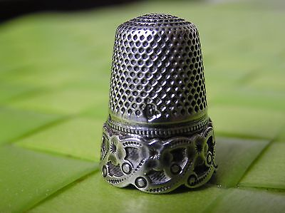 ANTIQUE FRENCH STERLING SILVER THIMBLE XIX th