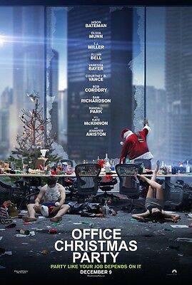 Office Christmas Party - original DS movie poster - 27x40 D/S 2016 Advance