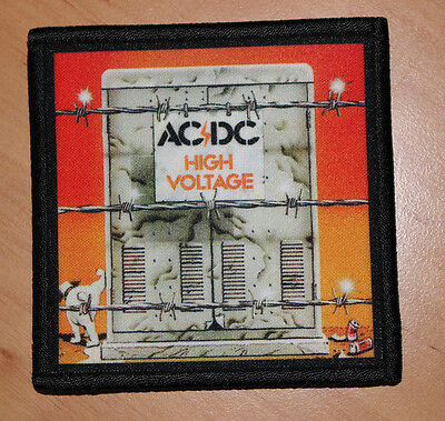 "AC/DC ""HIGH VOLTAGE"" silk screen PATCH (1)"