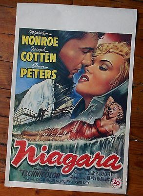 Ancienne AFFICHE belge CINEMA MARILYN MONROE du FILM NIAGARA de 1953