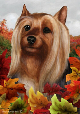 Large Indoor/Outdoor Fall Flag - Silky Terrier 13102