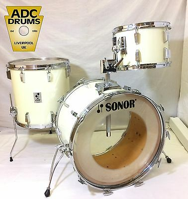 Vintage Sonor Phonic High Gloss White Drum Kit - 22/13/16