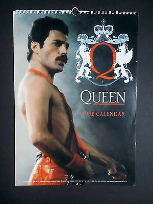 Queen Rock Band 1998 Calendar