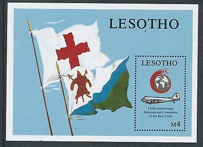 Lesotho 1989 125th Anniv of Int Red Cross. Aircraft MS