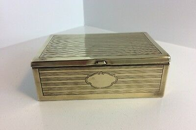 Vintage Table Top Brass Cigarette Box