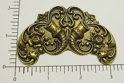 12853          Brass Oxidized Large Victorian Ornament Jewelry Finding
