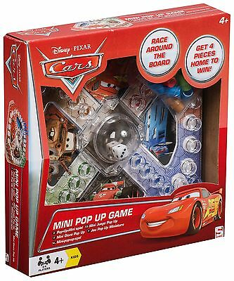 New Disney Cars Mini Pop Up Board Game Kids Boys Fun Travel Gift Present Toy
