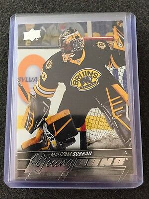 15/16 UD Young Guns YG Malcolm Subban #211 SP RC Vegas Golden Knights