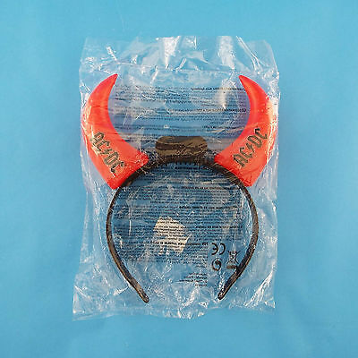 AC/DC Light Up Red Horns Headband Black Ice Tour Concert Memorabilia Sealed Bag