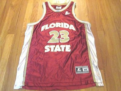 296f6c12fa1a Vintage 90 S Starter Ncaa Florida State Seminoles Basketball Jersey Size L  48