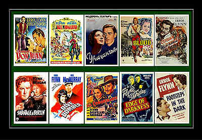 Errol Flynn - Movie Poster Postcards Set 1