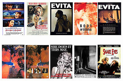 Madonna Movies - Posters Postcard Set # 3