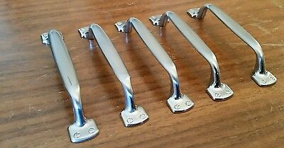 Lot of 5 Vintage Drawer Cabinet Door Drawer Handles Farmhouse Silver Tone 5""