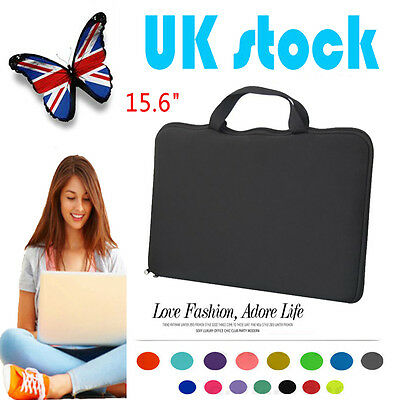 15.6 Black Soft Laptop Sleeve Case Bag Cover For HP DELL ASUS Toshiba Acer Sony