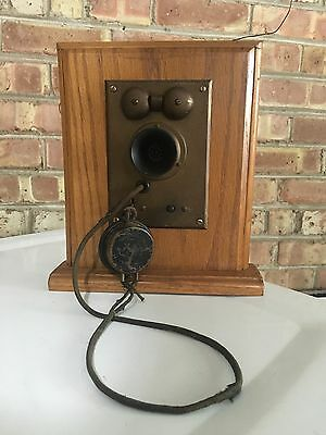 Vintage Chicago Apartment Intercom S.H. Couch Telephone Framed In Wood .