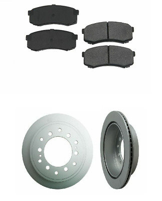 2 Pack MEYLE Rear Brakes Disc Rotor Brake Pad Set Kit for Dodge Freightliner