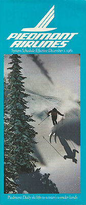 Piedmont Airlines system timetable 12/1/81 (Buy 2 get 1 free)