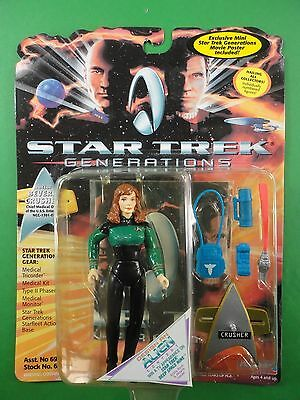 "Playmates Star Trek Generations Beverly Crusher 5"" Action Figure MOC"