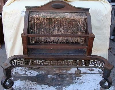 Vintage Antique Humphrey Radiantfire Parlor Room Heavy Iron Fireplace Gas Heater