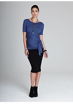 Isabella Oliver Maternity Over Belly Midi Career Pencil Skirt M 3 US 8/10 ;UK 12