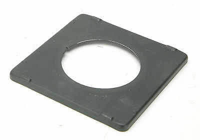 "Graflex 4x5"" Black Metal Lens Board 93x94mm With Hole 55mm. Fits Toyo-View 5x7""."