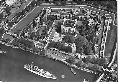Pleasure Steamer MV Royal Sovereign Aerial View Postcard at Tower of London
