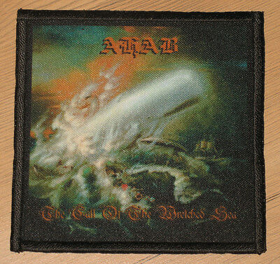 """AHAB """"THE CALL OF THE WRETCHED SEA"""" silk screen PATCH"""