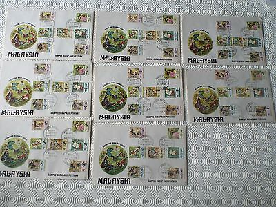 Malaysia 8 States Butterflies Covers 1971 With Booklets