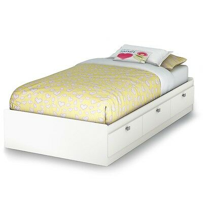 South Shore Barras Twin Storage Bed - Pure White