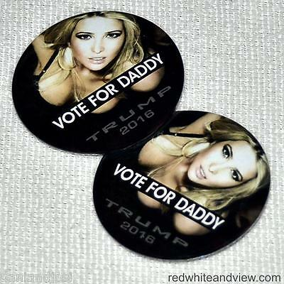 VOTE FOR DADDY! - 2 Pins - Free Ship! - Donald Trump for President 2016