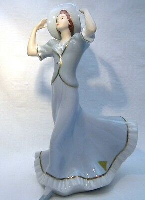 Royal Dux Figurine Girl With A Hat
