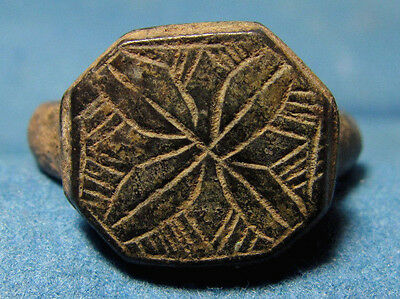 Judaea / Palestine local Medieval decorative excelent collectible bronze Ring.