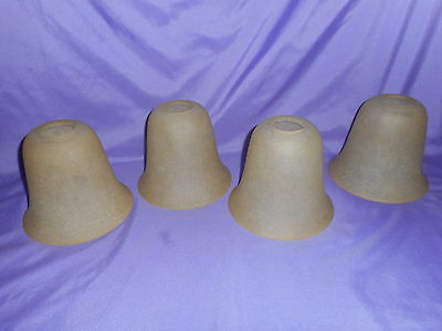 "4 Beige Frosted W/ White Glass Ceiling Fan Light Shade Globe Heavy 1 1/2"" Fitter"