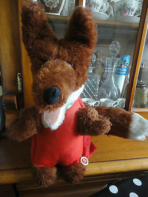Vintage Basil Brush Soft Toy 15 Inches,Pull String
