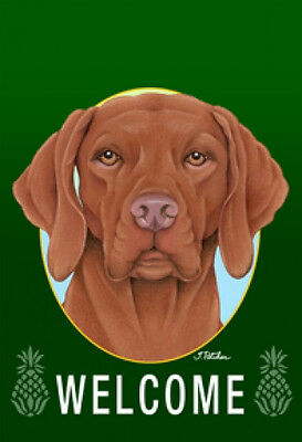 Large Indoor/Outdoor Welcome Flag (Green) - Vizsla 74052