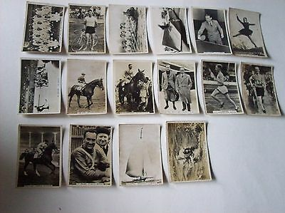 16 x Sporting Events and Stars Pattreiouex Senior Service cigarette cards Racing