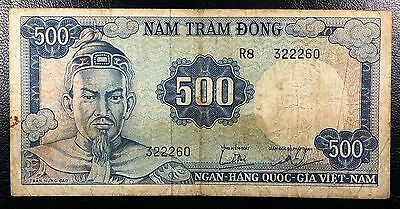 SOUTH VIETNAM: 1966 500 Dong Banknote, P-23 ◢ FREE COMBINED S/H ◣