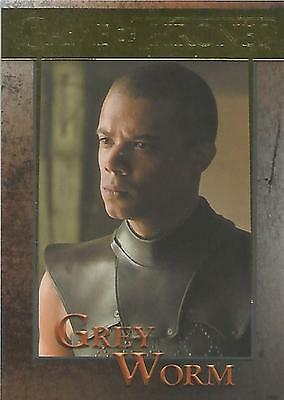 "Game of Thrones Season 5 - No 58 ""Grey Worm"" GOLD Parallel Base Card #048/150"