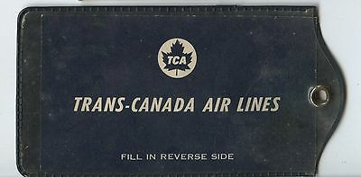 Old Vintage TCA Trans Canada Airlines Luggage Tag Holder
