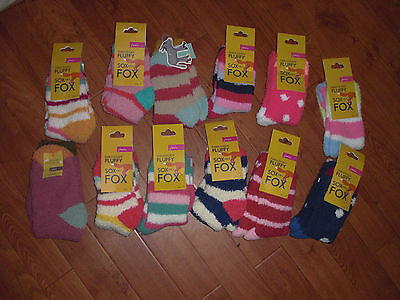 Bnwt Girls Joules Winter Fluffy Socks Size S/m Or M/l.free Postage Extra Pairs.
