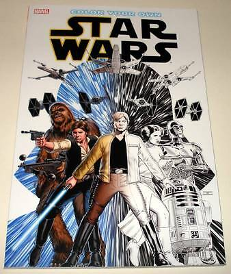 Color Your Own STAR WARS  Marvel Softback Book 2016  New / Unused