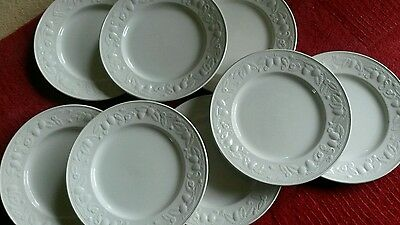 BHS Lincoln Barratts large dinner plates x 8