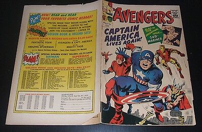 The Avengers N.1 - Golden Record Reprint - 1966