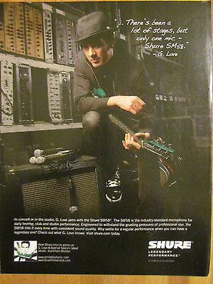 G. Love, Shure Microphones, Full Page Ad