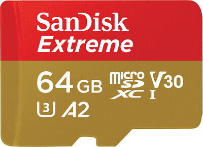 SanDisk 64GB Micro SD XC Memory Card For GoPro Hero 5 4 3+ Session 4K Video