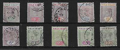 Gold Coast Sg26/34 1898-1902 Definitive Set Used