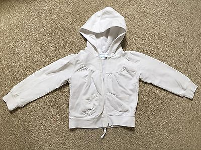 The Little White Company Girls White Hooded Jacket  3-4 years