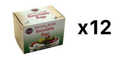 Norpro Replacement COMPOST BAGS 50 Pack Recyclable Garbage Trash (12-Pack)