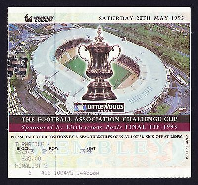 1995 FA Cup Final EVERTON v MANCHESTER UNITED *Excellent Condition Ticket*