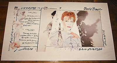 David Bowie Signed Scary Monsters Limited Numbered Art Print 1980 Uacc Dealer